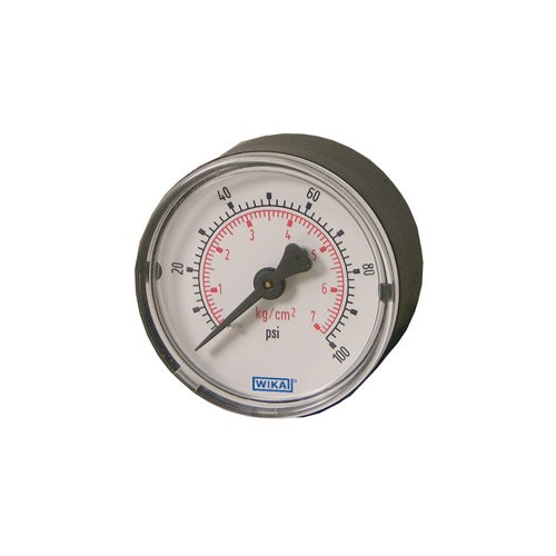 Wika 4253272 - Hydraulic Gauge - 30 psi, 2 in Face, Center Back Mount (CBM), 1/4 NPT in Port Size, Filling: None - Dry Case
