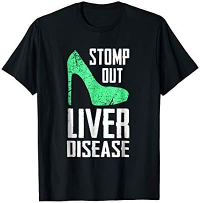 Stomp - Green Ribbon Liver Disease Awareness T-Shirt