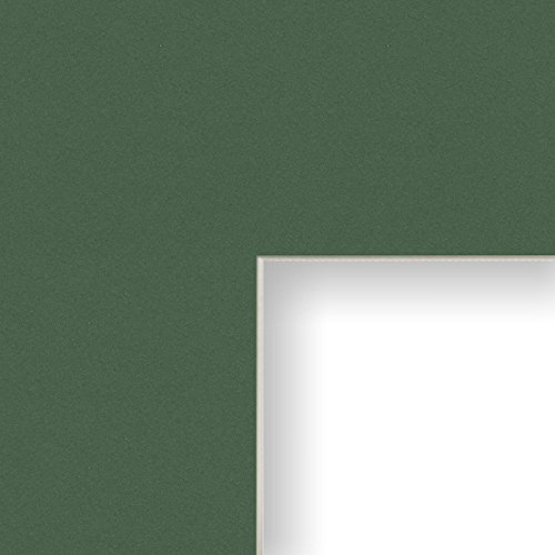 13 Cut Green (17x23 Matting for Picture Frame Green with Cream Core and 13x19 Opening Size (B524MAT))