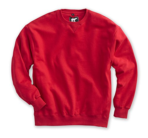 - White Bear Clothing Co. Heavyweight Crew (3XL, Red)