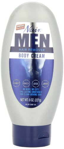 Nair Hair Remover Body Cream for Men, 8-Ounce Bottles (Pack of 3)