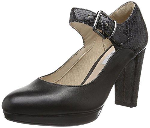 Clarks Modern-Elegant Damen Kendra Gaby Leder Halbschuhe In Schwarz