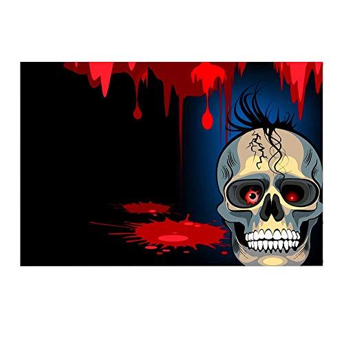 Willsa Halloween Backdrops 5x3FT Lantern Background Photography Studio Decoration ()