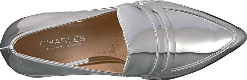 Charles by Charles David Womens Wilma Loafer Silver Speccio Smooth Zq0C7B