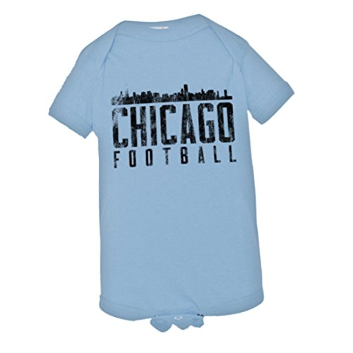 PleaseMeTees Baby Chicago Football Skyline Sports Distressed HQ Jumper-LtBl-24M 23 Chicago Bears Jersey