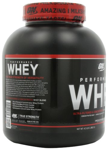 Optimum Nutrition Performance Whey Protein Powder, Whey Protein Concentrate, Whey Protein Isolate, Hydrolyzed Whey Protein Isolate, Flavor: Chocolate Shake, 50 Servings