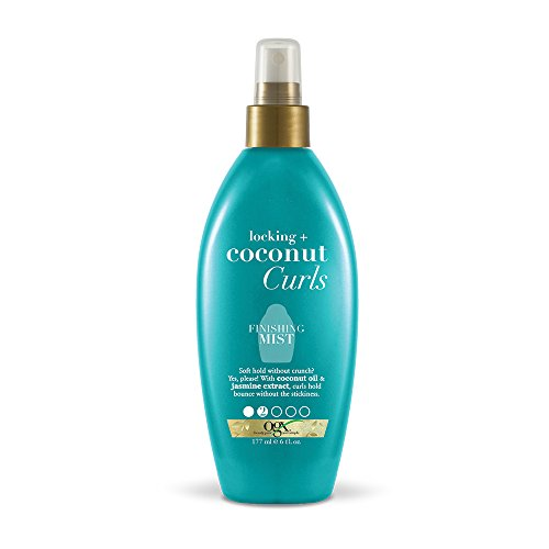 OGX Locking + Coconut Curls Finishing Mist, 6 Ounce Bottle,