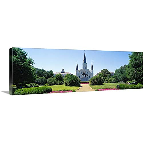 GREATBIGCANVAS Gallery-Wrapped Canvas Entitled St Louis Cathedral Jackson Square New Orleans LA by 60