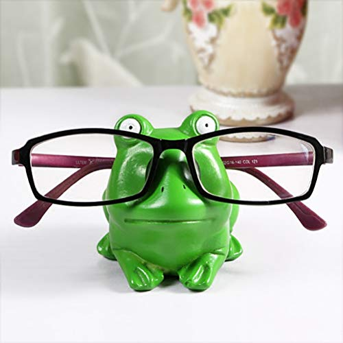 (Hushfly Eyeglass Holder Stand Sunglasses Display Glasses Organizer for Desk (Frog))
