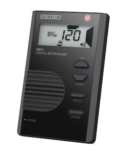 Seiko DM71B Pocket Size Digital Metronome - Black