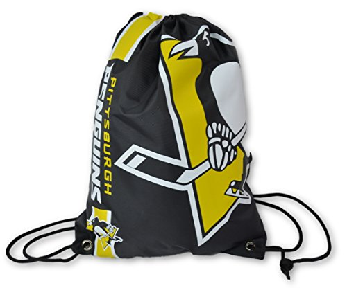 Official National Hockey League Fan Shop Authentic Drawstring NHL Back Sack (Pittsburgh Penguins)
