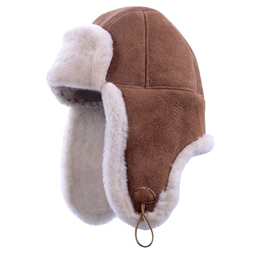 Furoom genuine sheepskin hat BOMBER (S)