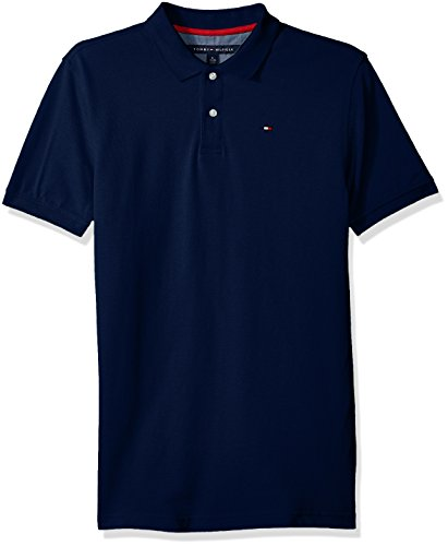Tommy Hilfiger Boys' Little Short Sleeve Solid Ivy Polo Shirt, Estate Blue, 4 by Tommy Hilfiger