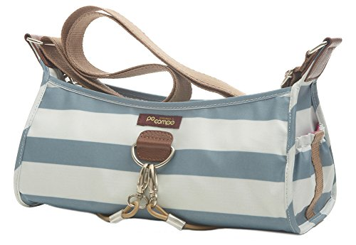 Po Campo Pilsen Bungee Handbag, Sky Stripes, One Size - Gathered Tote Bag