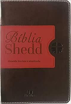 Bíblia Shedd - Café E Vermelho - Capa Nova Com Acabamento Luxo.
