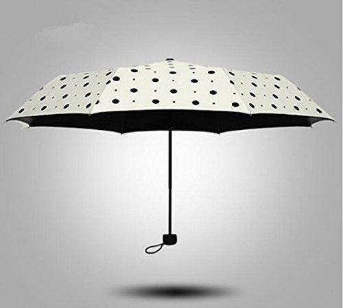 Sucastle Sunny, umbrella, folding, shade, anti-ultraviolet, vinyl, sun umbrella, super, sunscreen, creative, umbrella Sucastle:Colour:Milky white wave point:size:Solitary; 110cm: diameter; 56cm