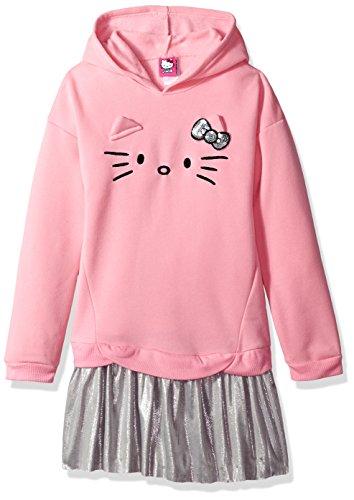 Hello Kitty Little Girls' 3 Piece Hooded Legging Set, Pink, 10 (Hello Kitty Leggings)