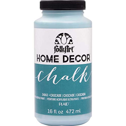 FolkArt 34843 Home Decor Chalk Furniture & Craft Paint in Assorted Colors, 16 Ounce, Cascade from FolkArt