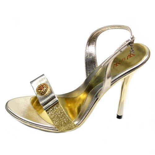 Wear & Walk UK - Sandalias de vestir para mujer Dorado dorado IhnTqt7