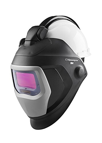3M Speedglas Quick Release Welding Helmet 9100 QR with Large Size Auto-Darkening Filter 9100X and Hardhat H-701R, 06-0100-20QR, Adjustable, Black