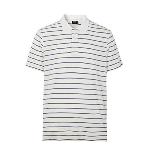Men's Classic Fit Short Sleeve Solid Soft Cotton Polo Shirt (White,4XL) ()