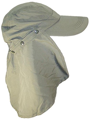 Stone Age Adult Long Billed Adjustable Ballcap W/Detachable Neck Flap (One Size) - - Large Billed Visors