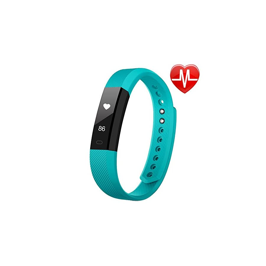 LETSCOM Fitness Tracker, Fitness Tracker Watch with Heart Rate Monitor,Slim Touch Screen and Wristbands, Wearable Waterproof Activity Tracker Pedometer,Green for Android and iOS