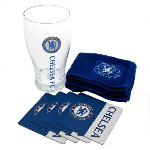 Soccer Pint Glass - Chelsea Wordmark Mini Bar Set
