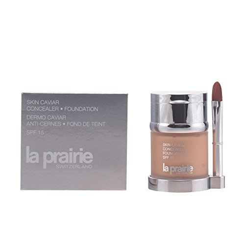 La Prairie Skin Caviar Concealer Foundation SPF 15, Honey Beige, 1 Ounce - La Prairie Beige Foundation