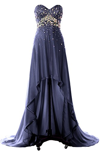 Formal Homecoming Dress Crystal Party Evening Hi Dunkelmarine Gown Women Lo Prom Long MACloth qfBwU