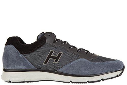 Hogan zapatos zapatillas de deporte hombres en ante nuevo traditional tejido h f