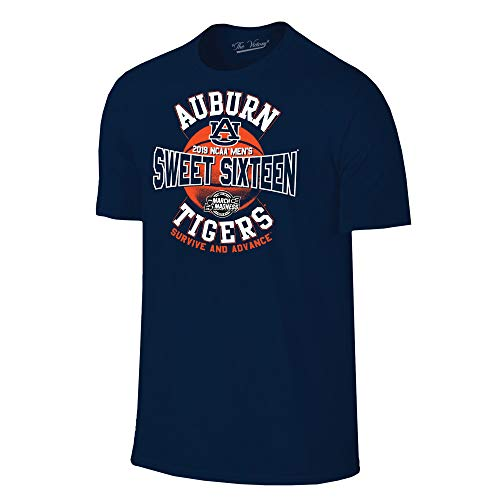 Auburn Tigers 2019 Sweet 16 Basketball March Madness T-Shirt - 2X-Large - Navy