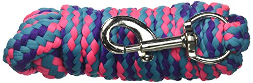 - Tough 1 8' Braided Soft Poly Lead Rope, Purple/Turquoise/Hot Pink, 8ft