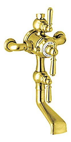 Rohl U.3552L-IB Special Order Only Non-Cancelable and Non-Returnable Perrin and Rowe Edwardian Exposed Thermostatic Mixer with Tub Spout and Volume Control Addition in - Exposed Mixer Thermostatic Rowe Shower