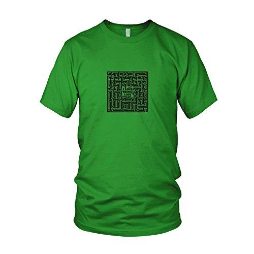 Love Being Lost - Herren T-Shirt, Größe: XXL, Farbe: grün