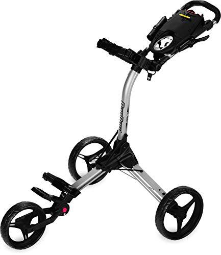 Bag Boy Golf Compact 3 Push Cart (Silver/Black, ) (Renewed)