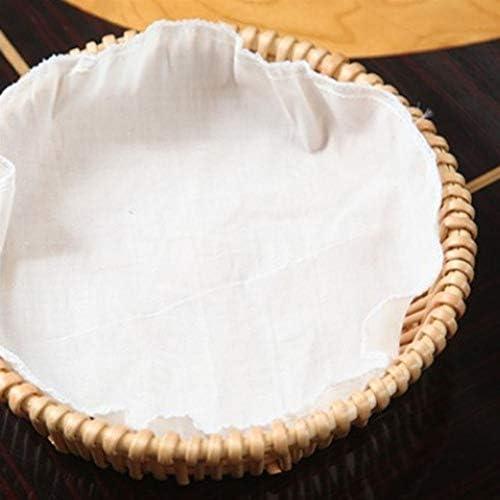 FHSY フルーツバスケット織食品保存干しパンのバスケット2つのオプションのウィッカーと耐久性ブレッドバスケット天然素材キッチン特別野菜 (Color : Beige, Size : 27*6cm)