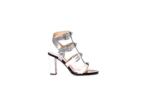 6b4bea827f7b5 Christian Louboutin Mujer 1170261M611 Plata Cuero Sandalias  Amazon.es   Zapatos y complementos