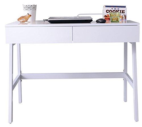 SixBros. Computer Desk - Office Desk - High Gloss White - CT-3534A 2184