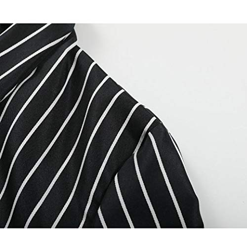 Ladies Black Coat Sleeve S Sexy Striped Clothes Long Stylish Duster Blazer erthome Women Jacket Ladies XL 4ZnPW4aq