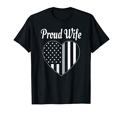 Cute Corrections Officer Wife Shirt Thin Gray Line T-Shirt