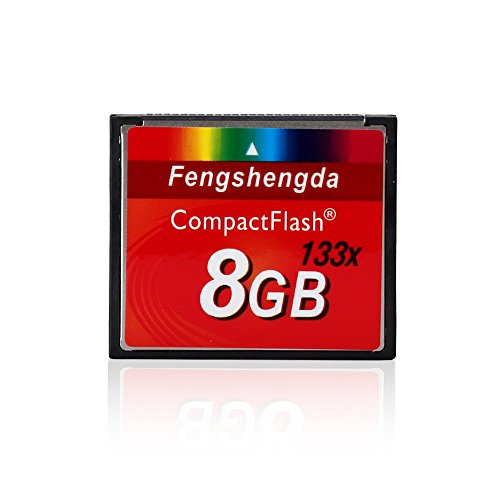 FengShengDa 8G Extreme Compact Flash Memory Card Speed Up To 80MB/s Frustration-Free Packaging SDCFHS-8G-AFFP by fengshengda