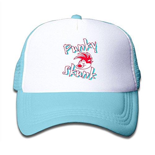 DNUPUP Kid's Punky Skunk Adjustable Casual Cool Baseball Cap Mesh Hat Trucker Caps