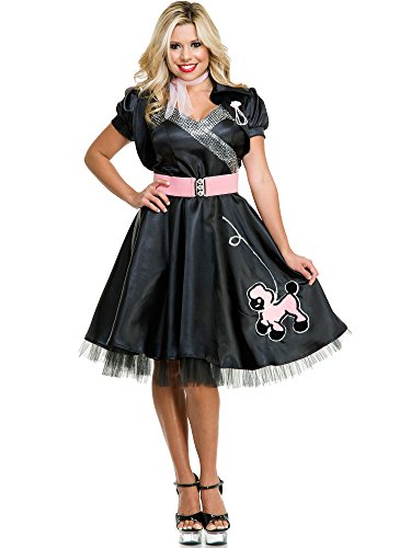Adult Satin Poodle Dress Costume (Satin Poodle Dress Adult Costumes)