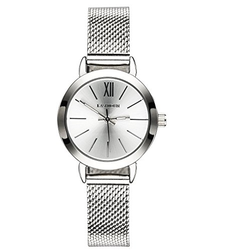 Women's Watches Gorgeous Waterproof Small Quartz Wristwatches Mesh Alloy Milanese Bracelet Silver Color ()