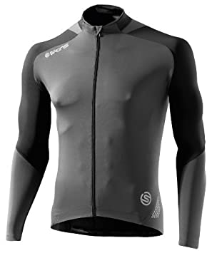 81ba1aec5 Skins C400 Long Sleeve Cycle Compression Jersey grey black small by Skins  C400