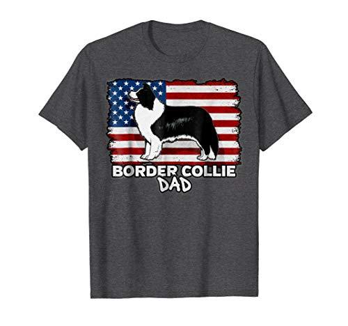 - Mens Border Collie Dad Dog T-shirt XL Dark Heather