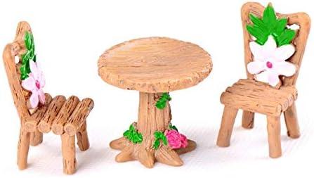 Inveroo 1 Mesa 2 Sillas Escritorio Miniatura Dollhouse Garden Home ...