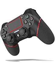 $32 » TopACE Replacement for PS4 Controller, Wireless Controller for Ps4/Pro/3/Slim/PC, Touch Panel Gamepad with Dual Vibration and Audio Function, LED Indicator USB Cable (Red)