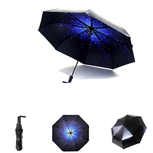 Compact Sun&Rain Travel Umbrella – Lightweight Portable UPF> 50 Parasol Mini Totes Umbrella with 99% UV Protection, 8-Ribs Waterproof Windproof 210T Fabric Canopy – Outdoor Folding Golf Umbrella Review